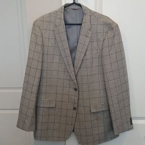 Tommy Hilfiger Gray Windowpane Slim Fit Sportcoat